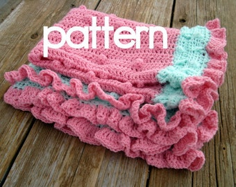 CROCHET PATTERN  Lots of Hugs baby blanket - Pattern PDF