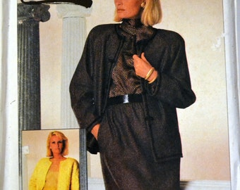 Vintage Sewing Pattern Simplicity 7212 Misses' Blouse, Skirt, and Jacket Size 8-10-12 Bust 31.5-34 Inches UNCUT Complete