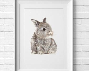 Be Humble Bunny Print Woodland Nursery Art Nursery Forest Rabbit Nursery Print Woodland Animal Nursery Decor Woodland Creatures Baby Shower