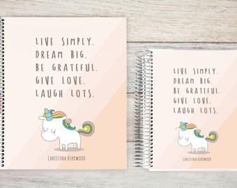 Planner | 2018 Planner | Weekly Planner | Hourly Planner | Custom Planner | Personal Planner | Life Planner | Planners | cute unicorn