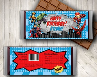 Superhero, Candy Bar Wrappers, Superhero Favors, Superhero Printables, Superhero Theme, Superhero Party, Superhero Labels, Boy Superhero