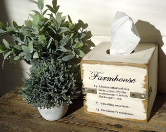 Country Rustic Farmhouse Farmers Market Tissue Box Cover Industrial Fixer Upper Free Shipping