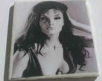 Kate O'Mara coaster British actress Hammer Films The Vampire Lovers Horror of Frankenstein Corruption Peter Cushing Dynasty Dr. Who Triangle