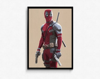 Deadpool The Merc With The Mouth! Comics Marvel Movie art print poster.