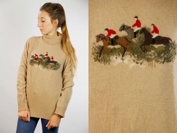 Turtleneck Jumper / Turtleneck Sweater / Ralph Lauren Jumper / Ralph Lauren Sweater / Beige Turtleneck / Wool Turtleneck / Ralph Lauren