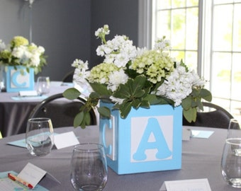 Baby Shower Centerpieces Baby Block Centerpieces Abc