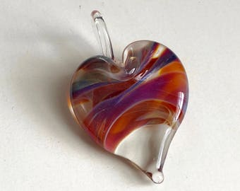 Glass Heart Pendant