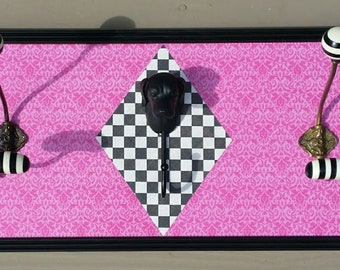 Pink Dog Coat Rack