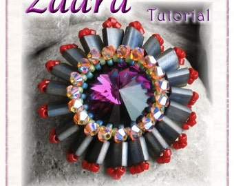 Beaded Pendant Tutorial with Tila beads (Downloadable PDF) - Zaara