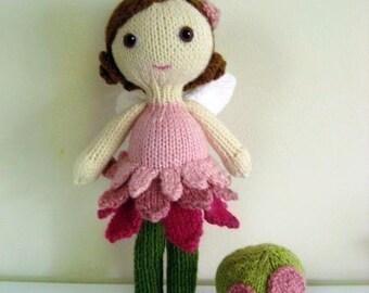Amigurumi Knit Fairy Doll and Mushroom Pattern Set Digital Download