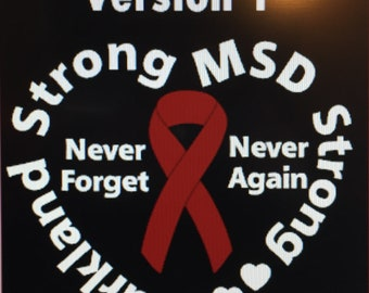 Parkalnd Strong/MSD Strong Vinyl Windowl Decal