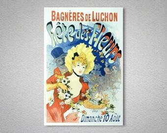 Bagneres de Luchon Fete des Fleurs Vintage Entertainment Poster - Poster Print, Sticker or Canvas Print / Gift Idea