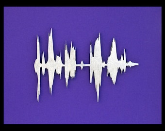 Bespoke Sound Wave Art from your own spoken phrase !
