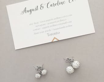 Swarovski Crystal Classic Studs // Classic Earring Studs // Simple Earrings // Ball Stud Earrings // Sterling Silver Studs // Gifts for Her
