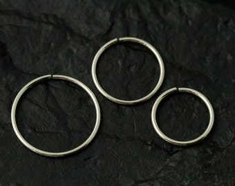 316L Surgical stainless steel seamless nose ring/cartilage/tragus - single