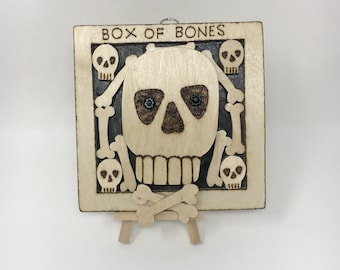 Baba Yaga's Box of Bones Wall Hanging