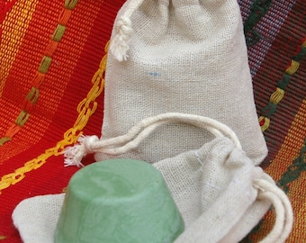 Polishing Compound * Green Rouge * Burlap Drawstring Bag