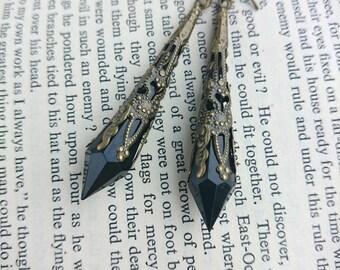 Downton Abbey Earrings. Elegant Earrings. Steampunk Earrings. Filigree Earrings. Medieval Earrings. Renaissance Earrings. Art Deco Earrings