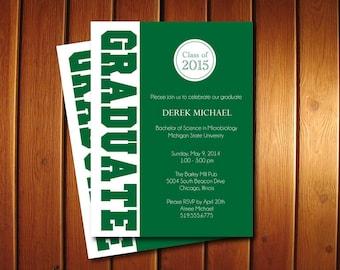 Graduate Graduation Party Invitations - College or High School Grad Announcement