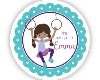 Name Personalized Stickers - Teal Purple Recess, Turquoise Playground Recess Name Label Stickers - Back to School - This Belongs To Labels
