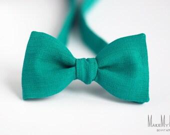 Jungle Green Bow Tie / cotton bow tie