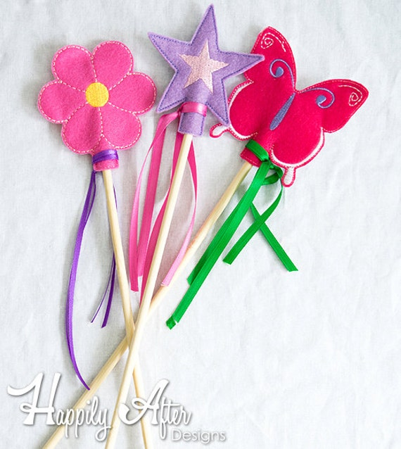 Fairy wand pencil topper embroidery design fairy wand for Embroidery office design version 9