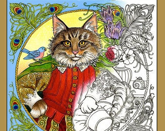 FANTASTIC CATS Coloring Book for Adults - 24 images for PDF Download
