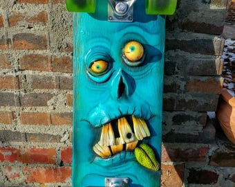 OOAK Skateboard Monster Sculpture