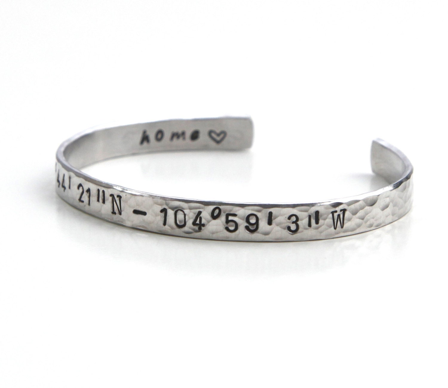 longitude il bracelet sm latitude cuff coordinate location product fullxfull made special personalized coordinates