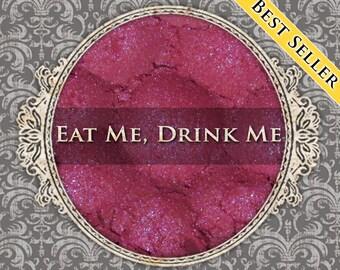 EAT ME, DRINK Me Shimmer Eyeshadow: Samples or Jars, Cool Pink w/Purple Duochrome, Powder Eyeshadow, Vegan Makeup, Ships Out in 5-8 Days