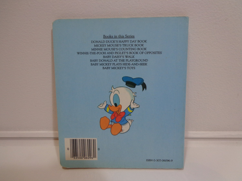 Vintage 1986 Disney Babies Baby Donald Duck At The Playground Board Book,  Illustrated Childrens Golden Book, Ephemera, Disneyana