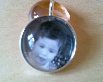 SOLID Sterling Silver Photo Necklace, Personalize Photo Pendant, Personalize Picture Necklace, Picture Pendant, WATERPROOF
