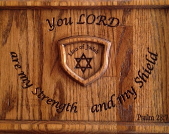 Psalm 28:7 Wall Mountable Plaque (with Free Shipping)