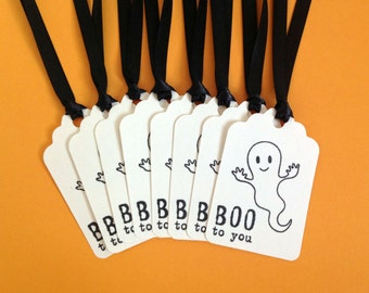 Halloween Gift Tags - Halloween Gifts Kids - Cute Halloween Favor Tags - Halloween Treats for Kids - Halloween Party Favors - Treat Bag Tag