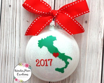 italy christmas ornament italian love christmas ornament italy vacation christmas ornament italy home - Italian Christmas Ornaments