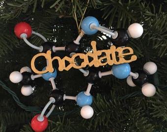 Chocolate (Theobromine) Molecule Ornament