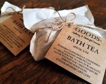 Bath Tea, Bath Soak, Botanical Bath Soak, Epsom Salts, Roses, Lavender, Chamomile