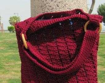 Large Crochet Shoulder/ Across Body Bag (Reema Bag) Instant Download