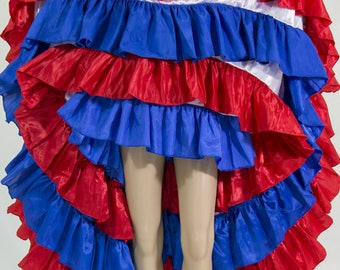 Red white blue cancan skirt
