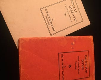VTG Social and Health Booklets by Dr M Sayler Taylor, 1927 and 1928