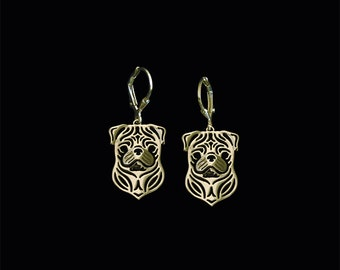 Pug earrings - Gold