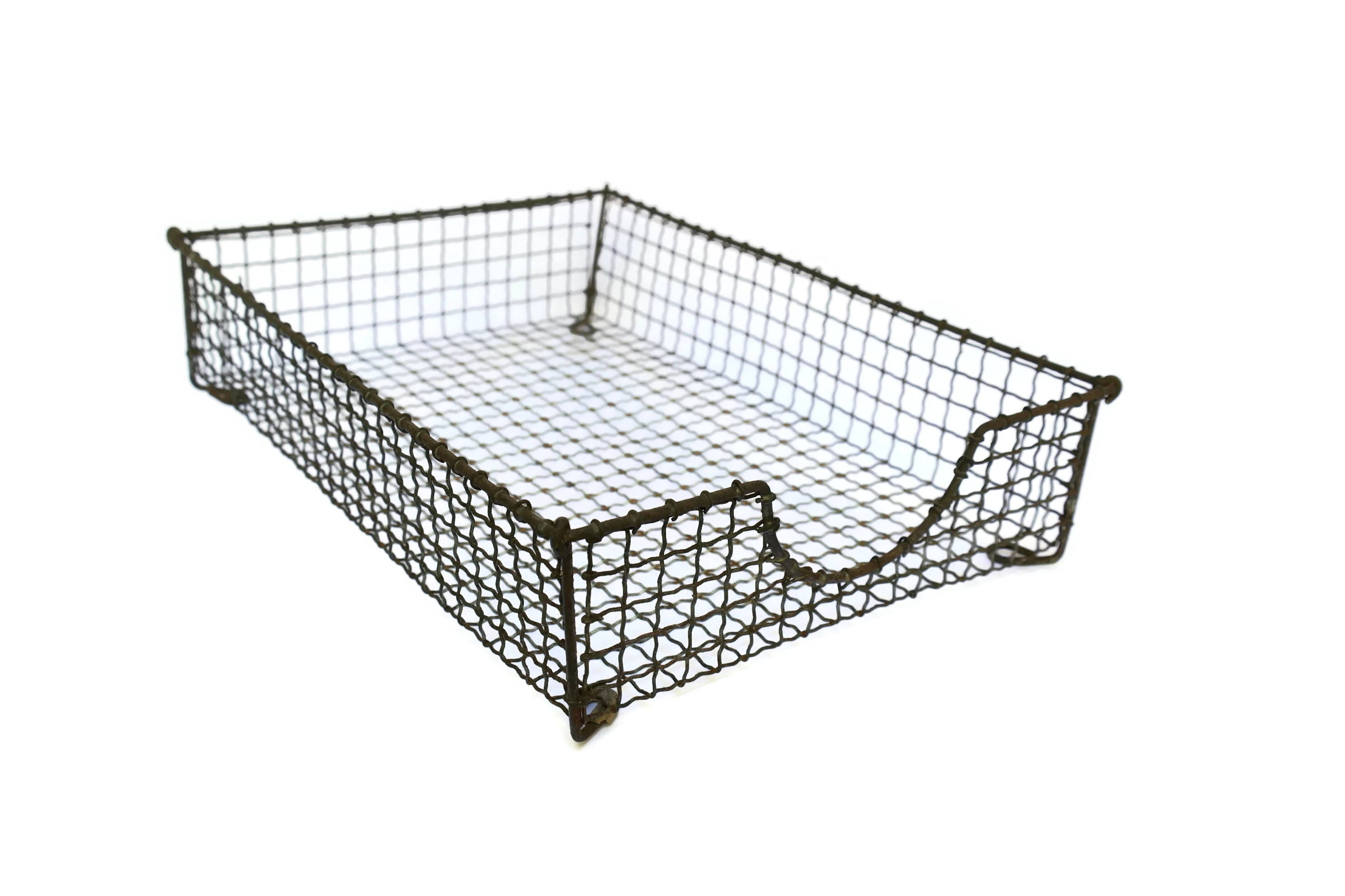 Vintage Wire Mesh Paper Tray.