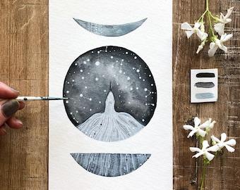 Celestial Watercolor // celestial flight