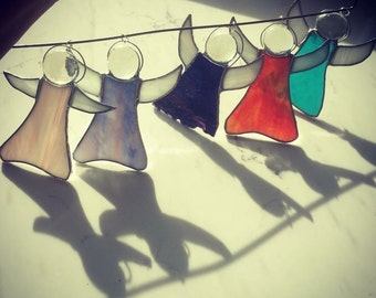 Stained glass angel suncatchers