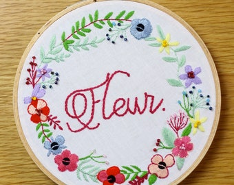 Embroidery - Spring Flower