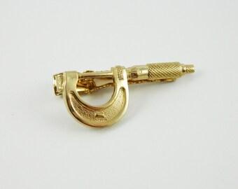 Gold Mircometre Tie Clip