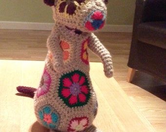 Mia the colourful crochet Meerkat PDF Pattern