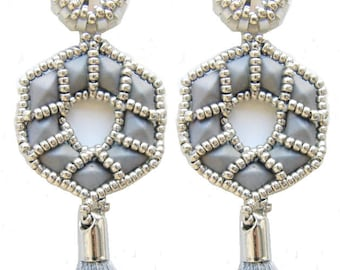 Trinity earrings - instant download beading pattern with Diamonduos