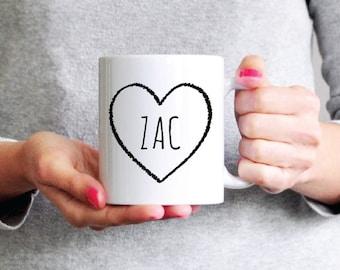 Zac  Mug - Funny Coffee Mug - Zac Mug Ceramic Mug - Funny Mug - Girlfriend Gift Sister Gift Coworker Gift