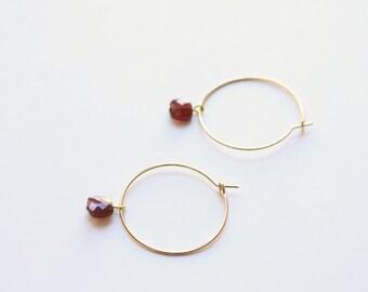 SALONI - Garnet Earrings